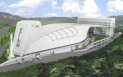 An artist impression of space ship-like Calvary Convention Centre