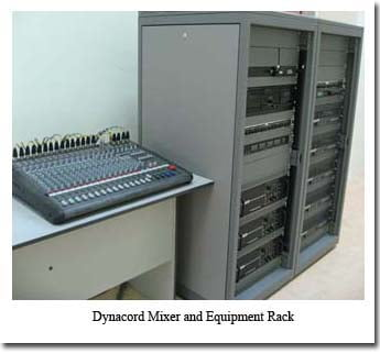 Sound Mixer and Equipment Rack